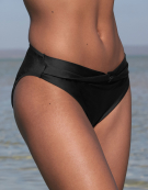Mix & Match Twist Brief Bikini Brief in Black by Bravissimo