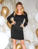 Simone Dress in Black by Bravissimo Clothing