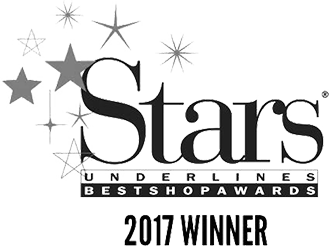 Winner of Stars Underlines Best Shop Award