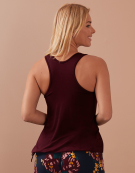PJ Racerback Top in Burgundy by Bravissimo