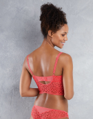 Soiree Lace Plunge Bralette in Coral by Freya