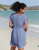 Short Beach Dress in Cornflower Blue by Bravissimo