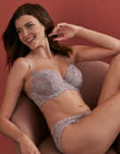 Iris Balconette Bra in Grey by Bravissimo