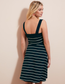 Button Front Sundress in Navy Stripe by Bravissimo Clothing