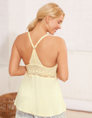 PJ Racerback Cami Top PJ Cami Top in Lemon by Bravissimo