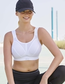 D+ Max Sports Non Wired Sports Bra in White by Shock Absorber