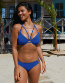 Icon Halterneck Bikini Top in Cobalt by Miss Mandalay