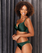 Satine Lace Plunge Bra in Green by Bravissimo