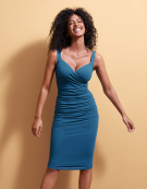 Strappy Leila Dress in Blue by Bravissimo Clothing