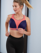 Run Non Wired Sports Bra in Pink / Purple by Shock Absorber