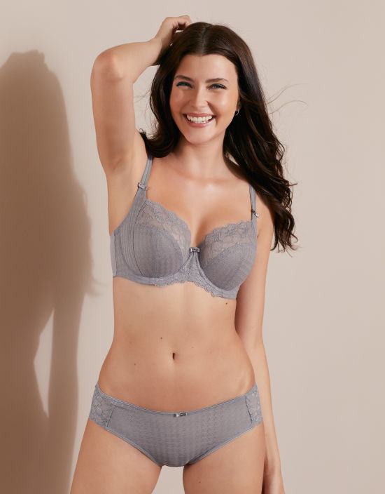 19d63901a Envy Balconette Bra in Grey by Panache