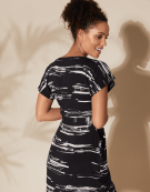 Kimono Dress in Black Stripe by Bravissimo Clothing