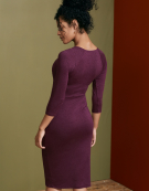 Jessica Dress in Frosted Berry by Bravissimo Clothing