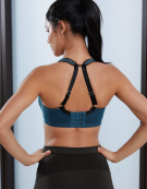 Sonic Spacer Wired Sports Bra in Petrol by Freya
