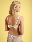 Satine Luxe Plunge Bra in Cream Floral by Bravissimo