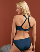 Deco Amore Plunge Bra in Midnight Blue by Freya