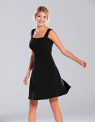 Flippy Skirt Dress in Black by Bravissimo Clothing