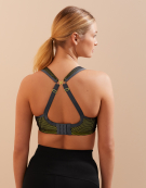 Wired Sports Bra in White/Lime by Panache