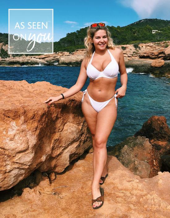 e3538e9e84 Sorrento Halterneck Bikini Top in White by Bravissimo