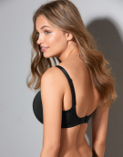 Porcelain Elan Balconette Bra in Black by Panache