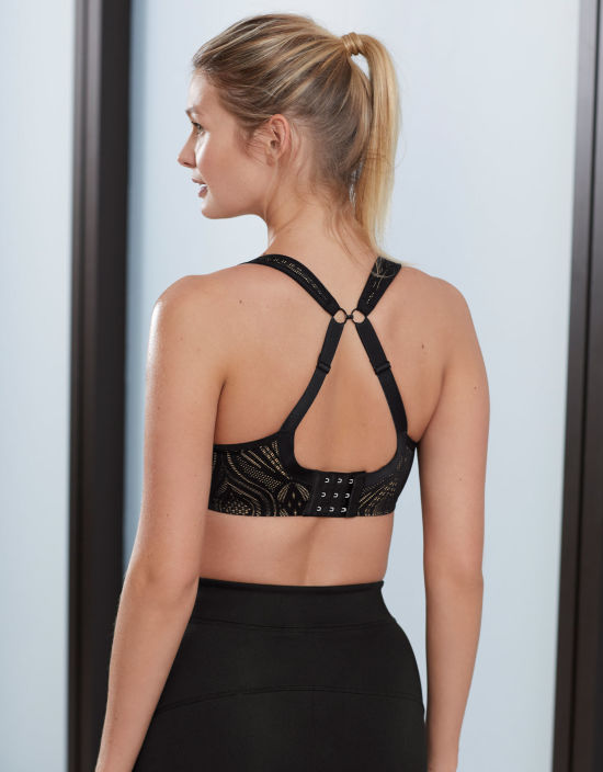 52a4d08eed878 Wired Sports Bra in Black Lace by Panache