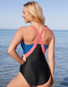 Seduna Sport Non Wired Swimsuit in Blue / Coral by Zoggs