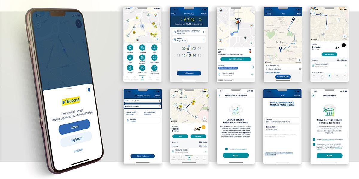 Telepass Pay, l'App che offer oltre 25 servizi per la tua mobilità in auto e in città.