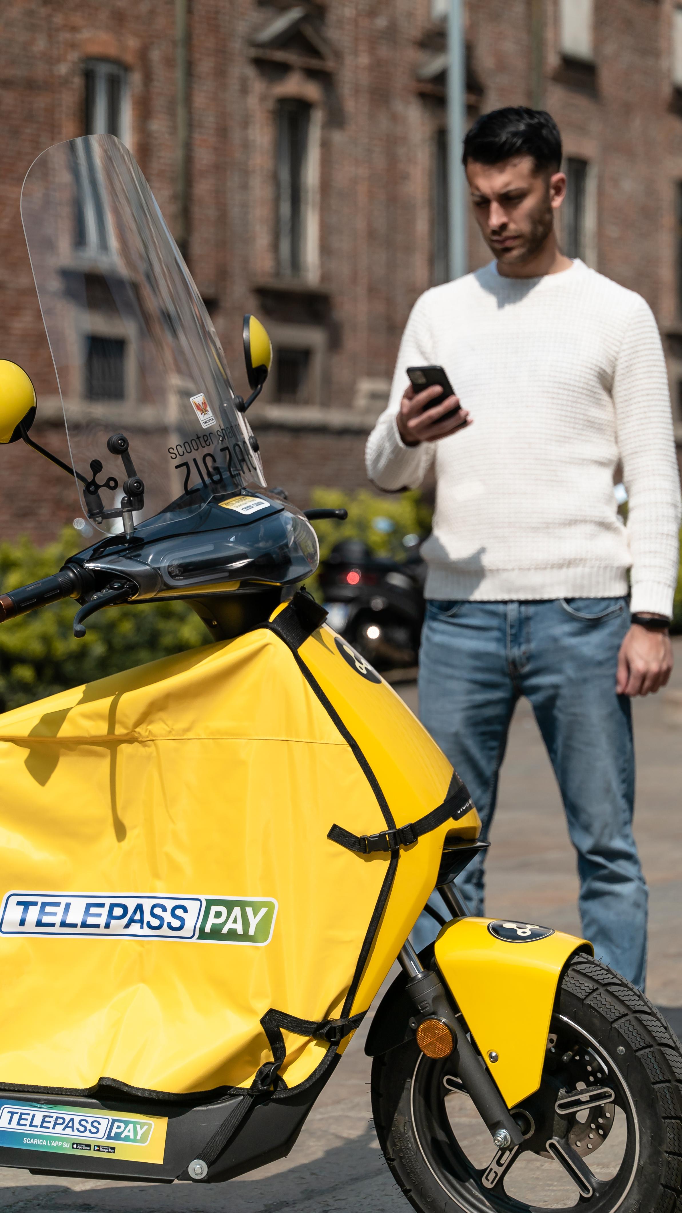 Scooter sharing Zig Zag con Telepass Pay