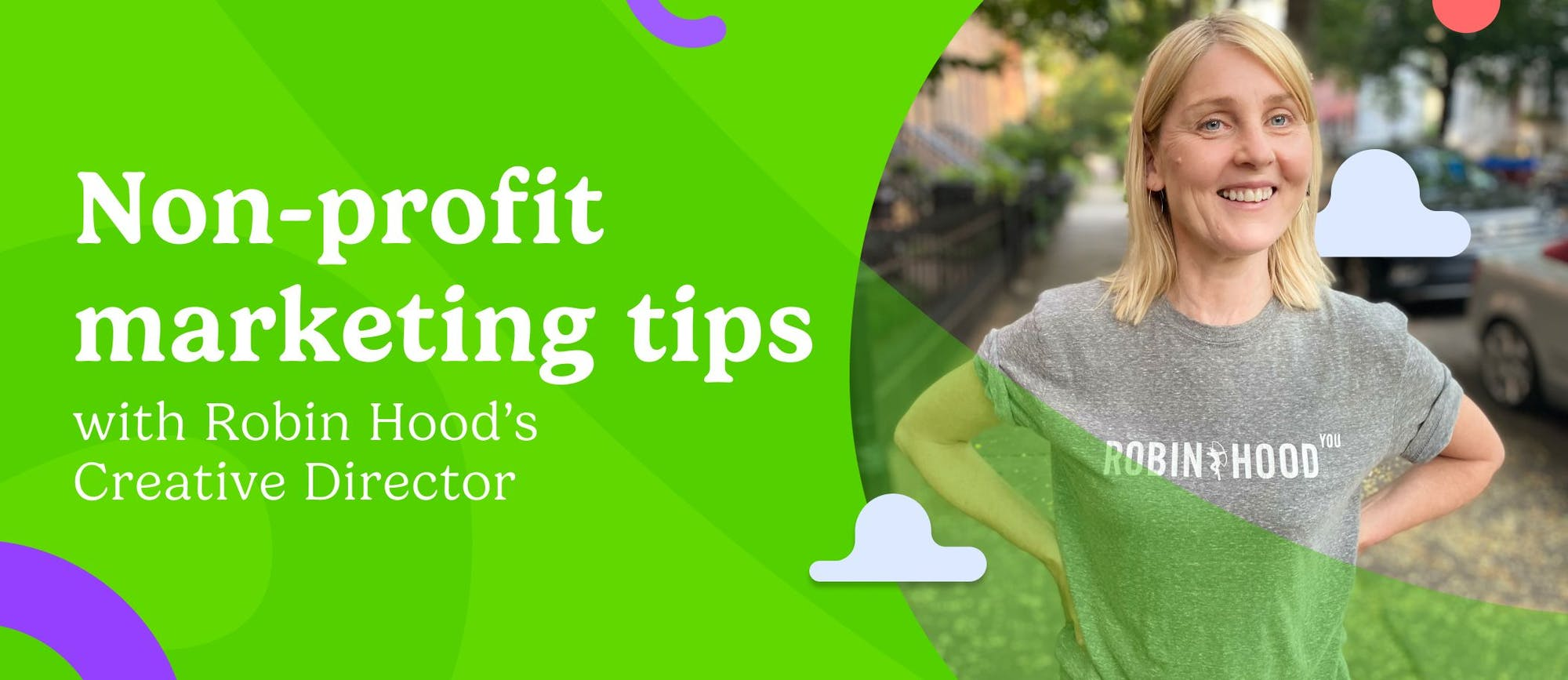 """""""Non-profit marketing tips"""" and an image of Mary Power"""