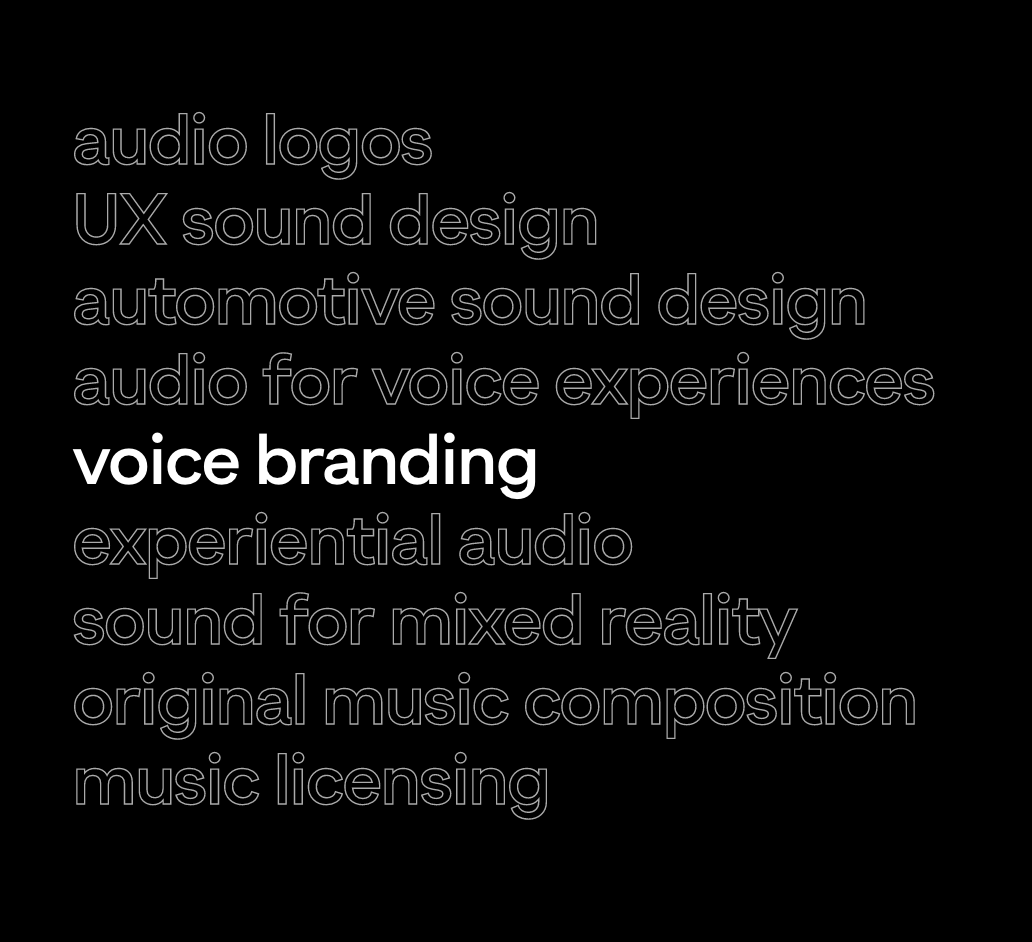 An example of Audio UX's work #0