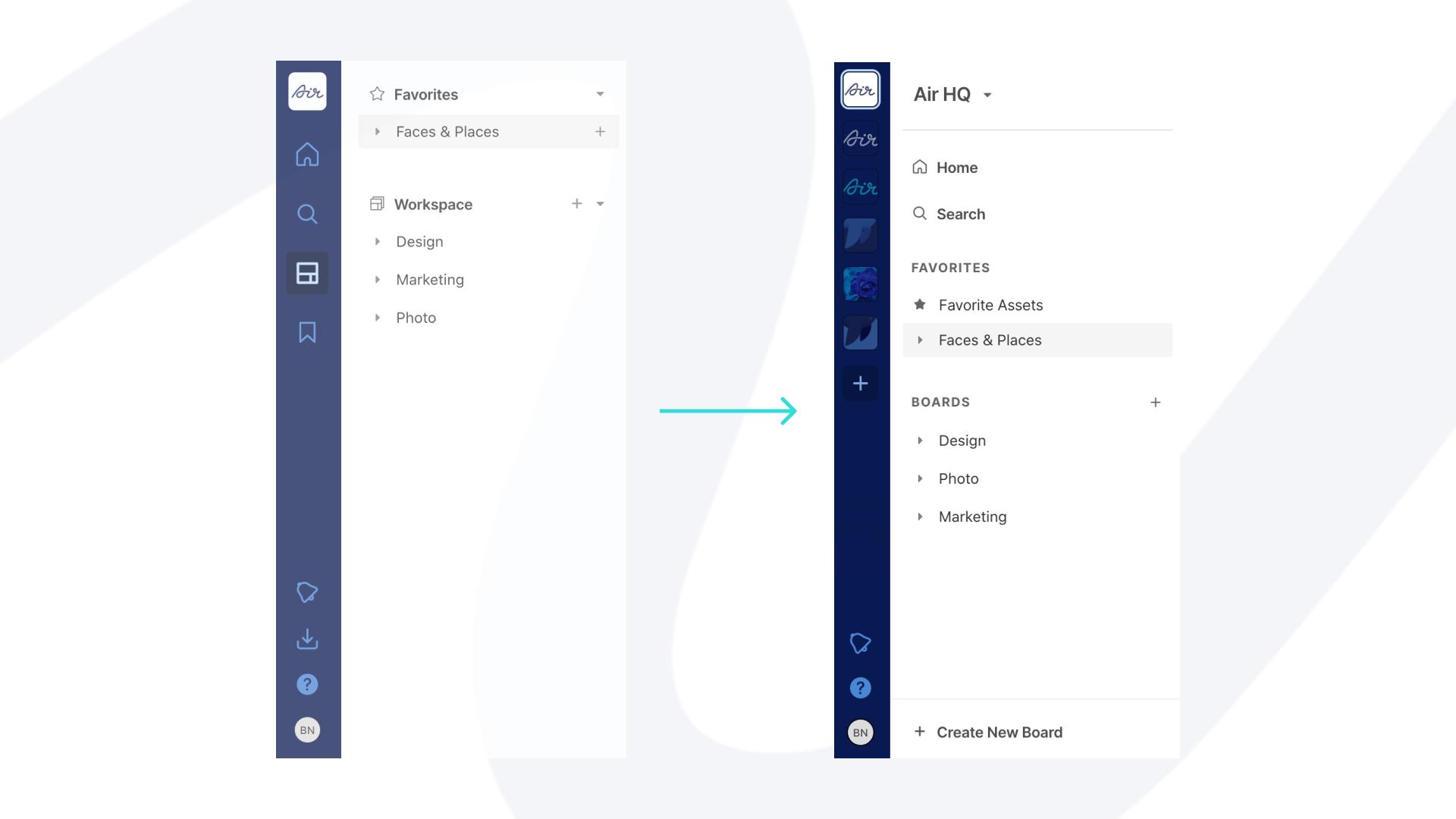 Navigation redesign at Air