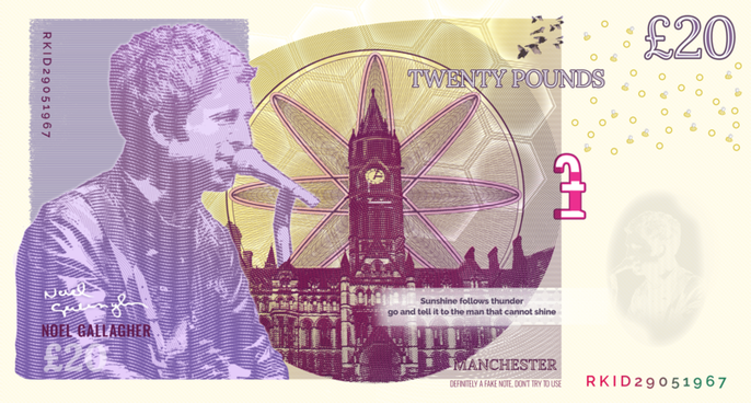 Noel Gallagher - Manchester Bank Note