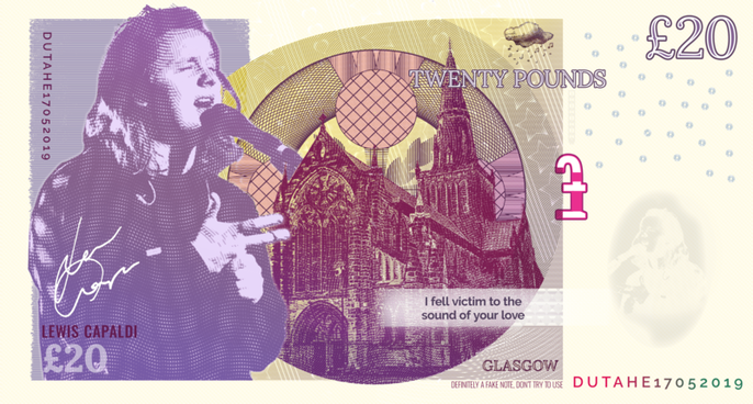 Lewis Capaldi - Glasgow Bank Note
