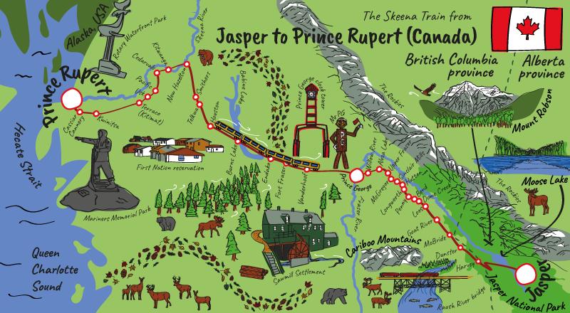 Canada railway map
