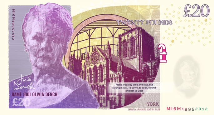 Judi Dench - York Bank Note