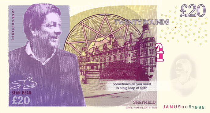 Sean Bean - Sheffield Bank Note