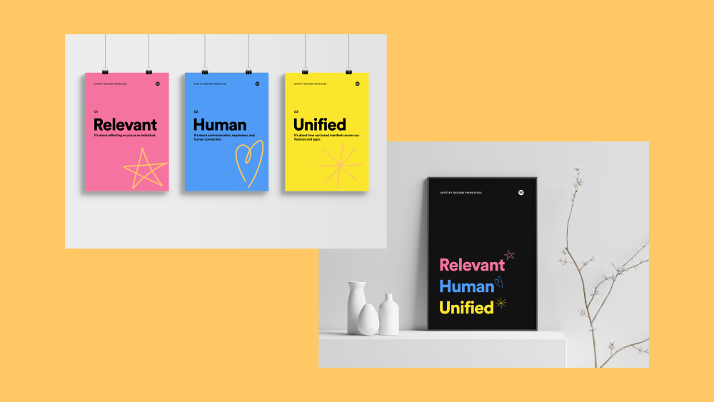 Examples of swag for design principles. Mockup templates by deepyellow and dribbble graphics.