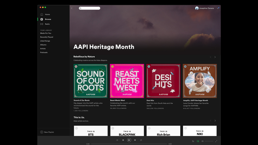 The AAPIHM hub on Spotify.