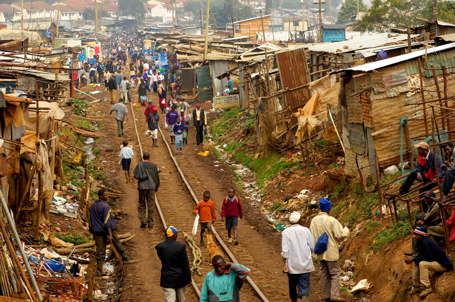 A slum in Kenya