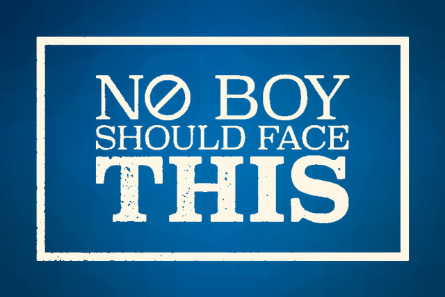 No Boy Should Face This