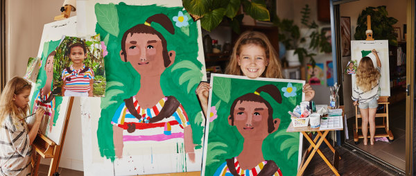 Win a Portrait of Your Sponsored Child by 8-Year-Old Artist Honor Adams
