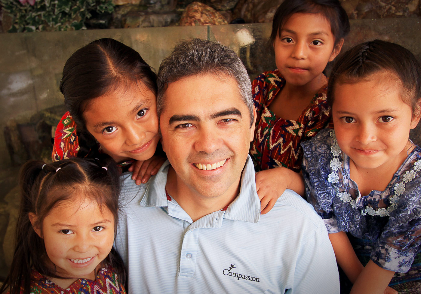 Jose Carlos Prem and Guatemala children