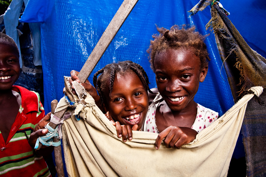 Two girls in Haiti