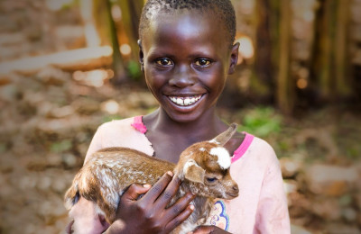How a Goat Helps Provide Security for Vulnerable Children