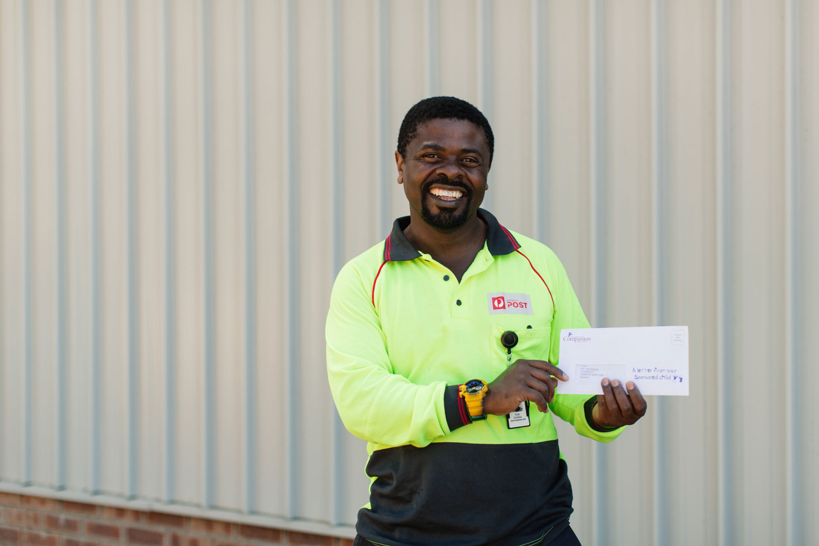 How One Remarkable Postman Encourages Sponsors on His Route