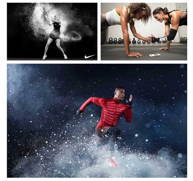 Nike: Cinematic, larger than life, speed and strength, grit.