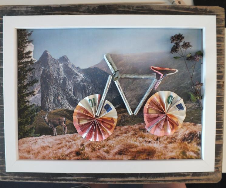 geldgeschenk fahrrad basteln anleitung zum nachbasteln. Black Bedroom Furniture Sets. Home Design Ideas