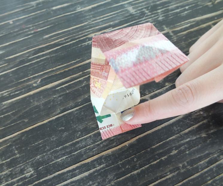 Brief Falten Nach Innen Aussen : Geldschein falten zum kästchen anleitung mit bildern auf