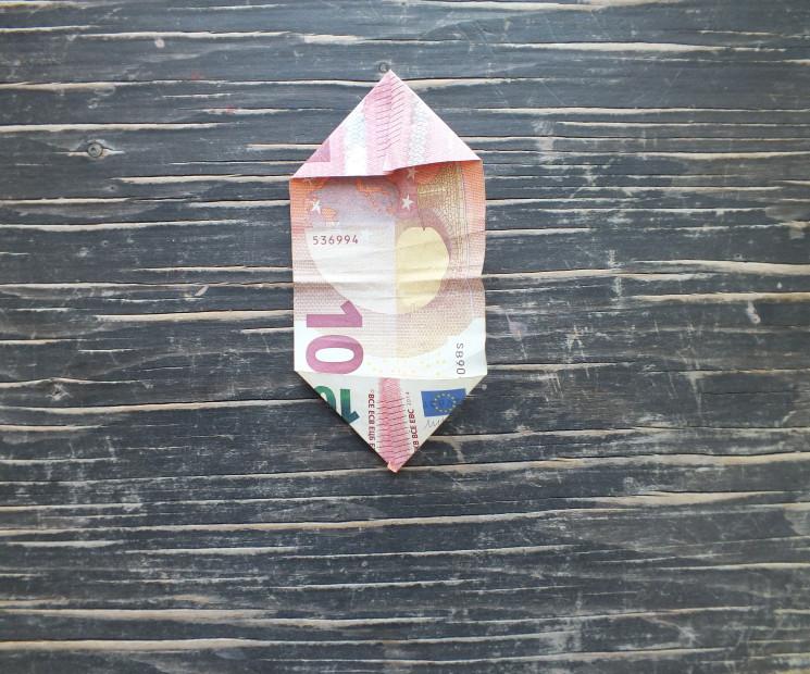 blume aus geld falten anleitung geld blume falten. Black Bedroom Furniture Sets. Home Design Ideas