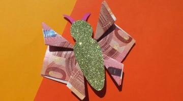 Geldgeschenk Schmetterling Faltanleitung Mit Bildern Auf Geschenke De